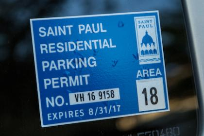 St Paul Residential Parking Permit 2